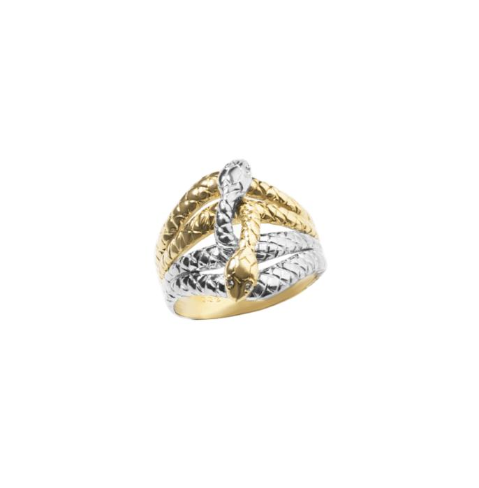 кольцо две змеи