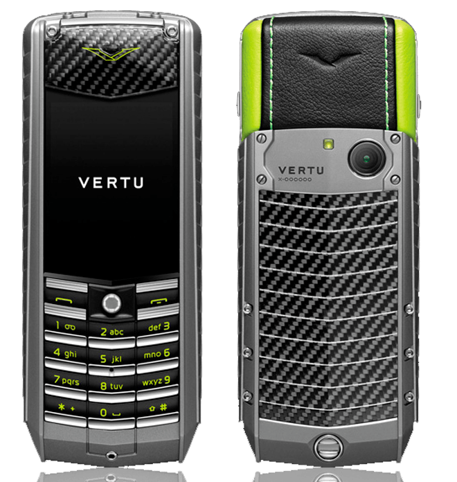 Vertu Ascent x 2010 CARBON FIBER GREEN