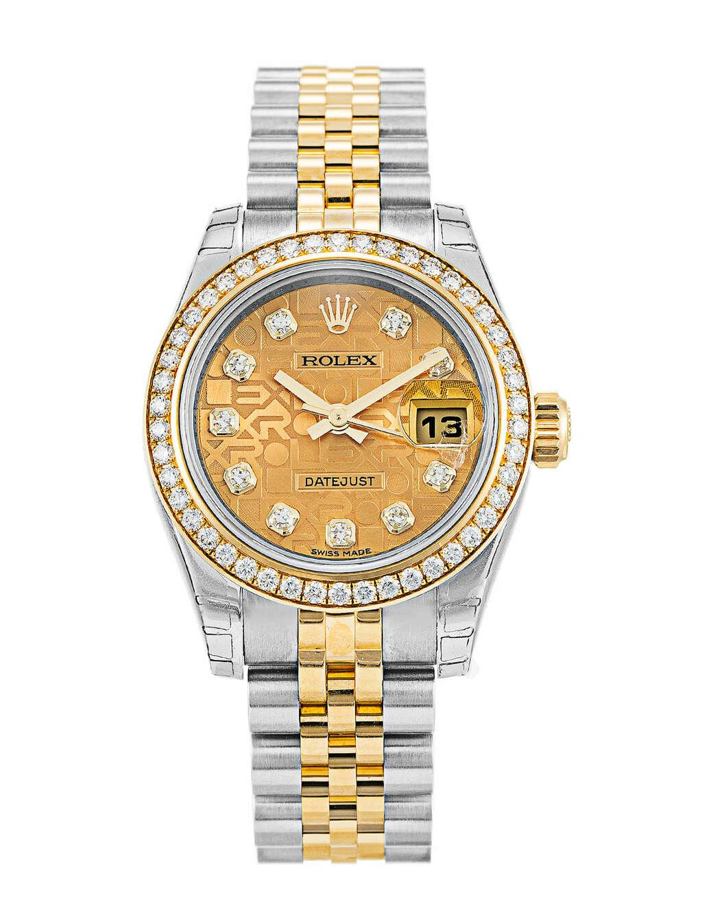 Rolex Lady-Datejust 26mm Steel and Yellow Gold