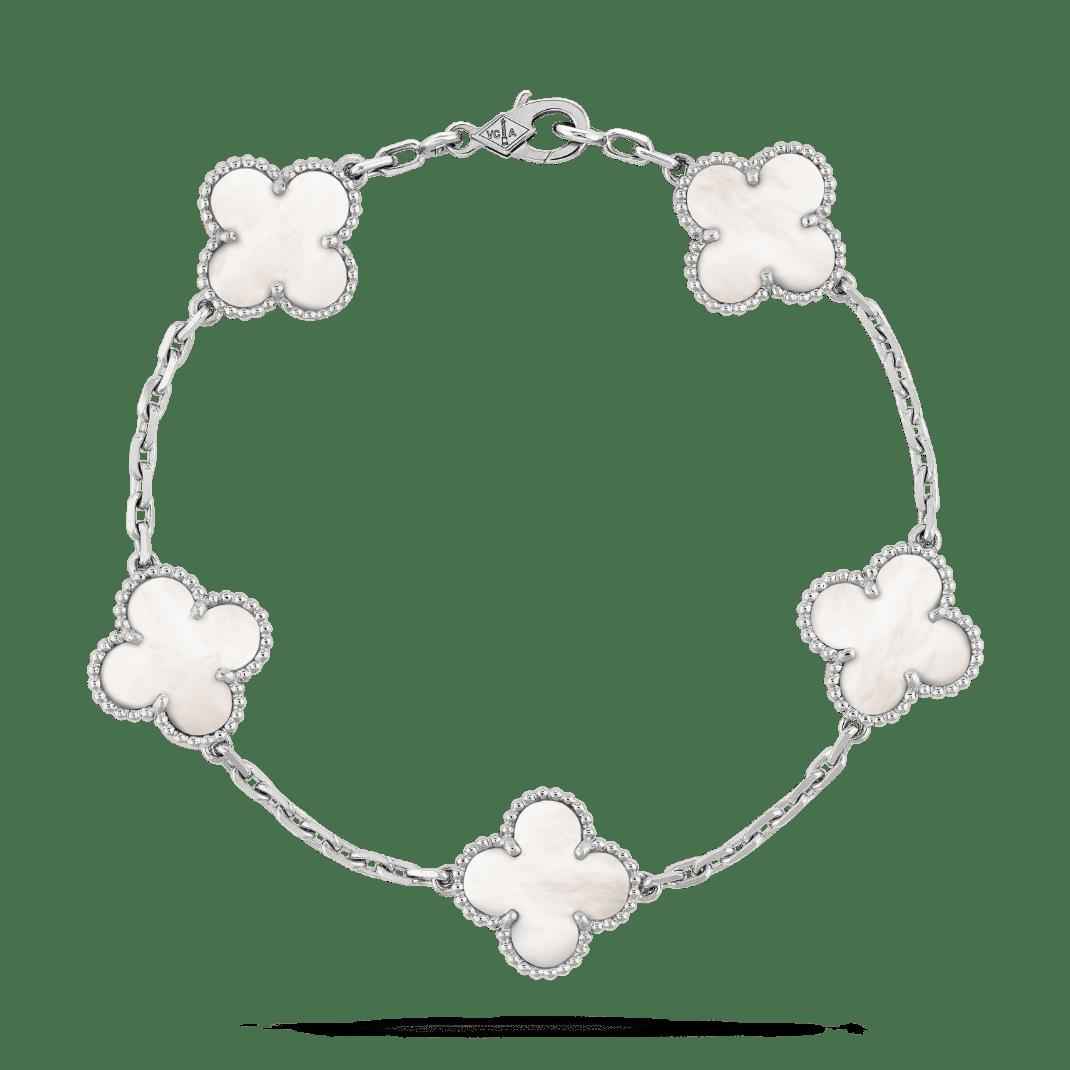 Браслет Van Cleef & Arpels Vintage Alhambra, 5 мотивов
