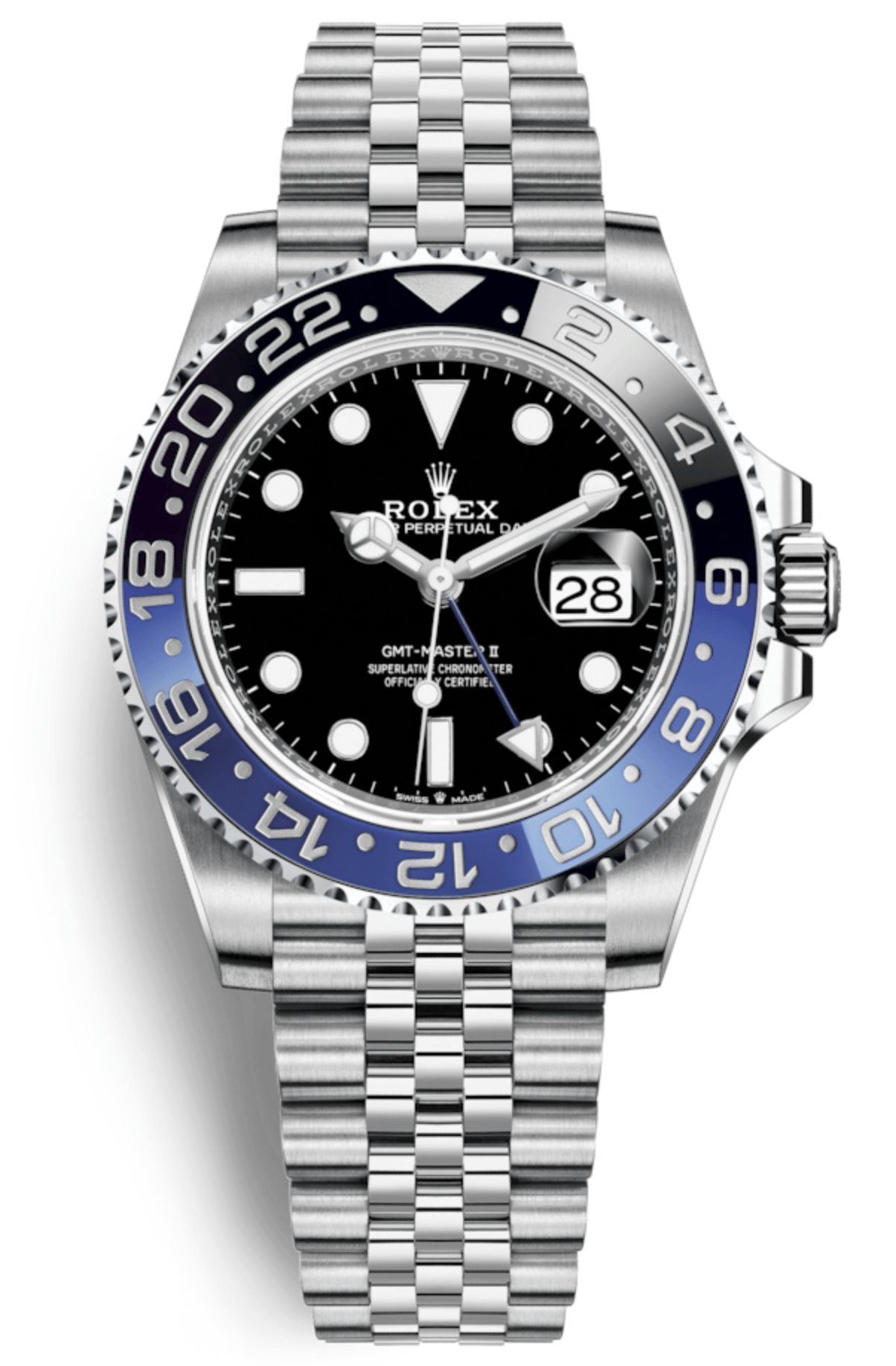 "Rolex GMT Master II 40mm Steel ""Batman"""