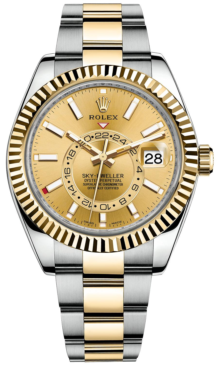Rolex Sky-Dweller 42mm Steel and Yellow Gold