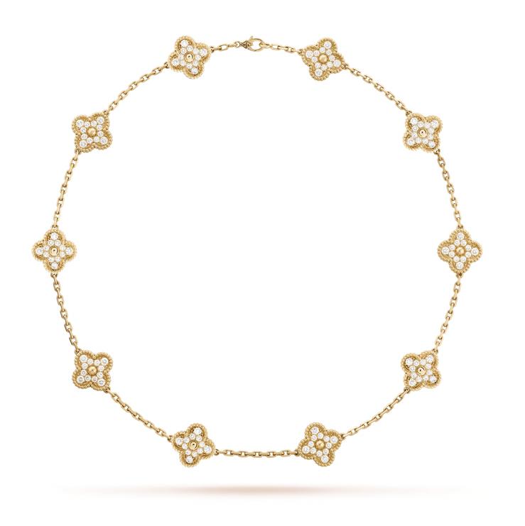 КОЛЬЕ VAN CLEEF & ARPELS Vintage Alhambra, 10 мотивов