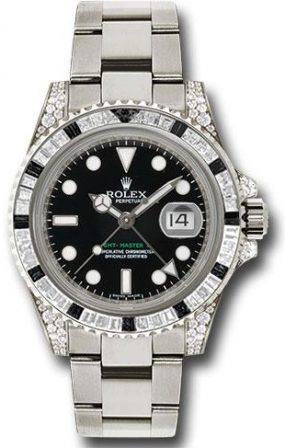 Rolex GMT Master II 40mm White Gold Jewellery
